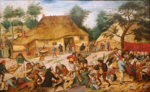 Pieter_Brueghel_de_Jonge_-_Bruiloftsmaal_voor_een_boerenhuis